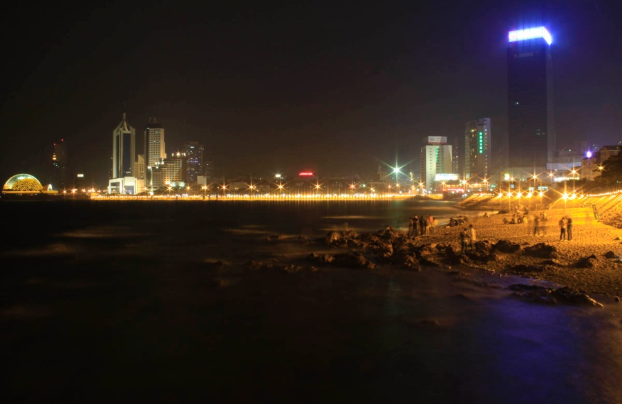 〔影雪作品〕青岛-栈桥夜景—大众摄影网