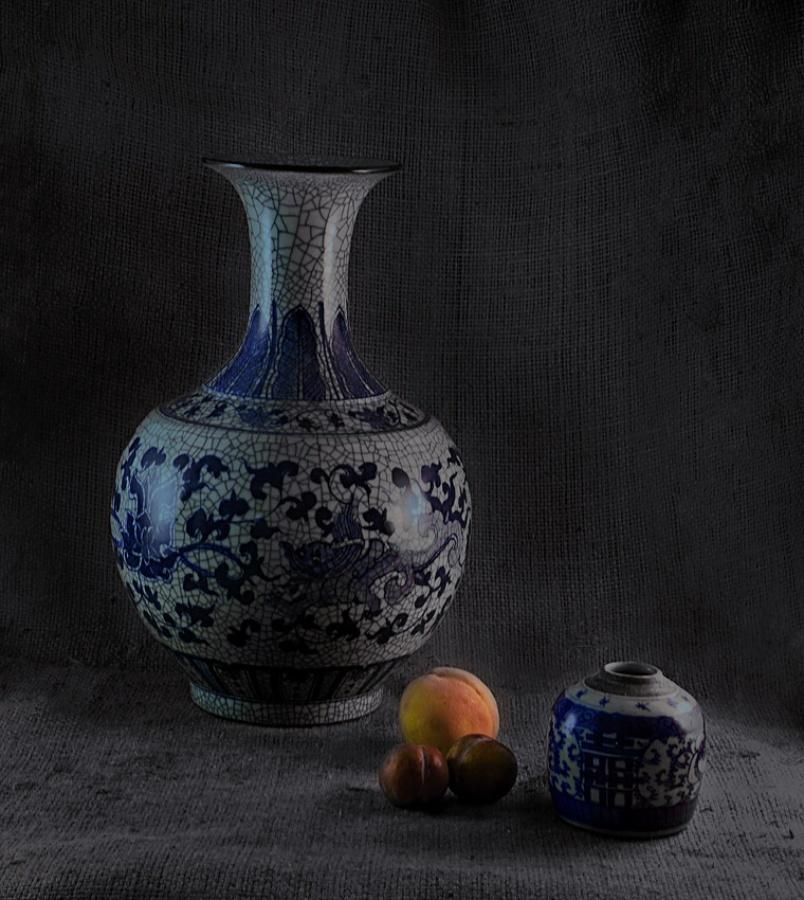 青花瓷器摄影作品